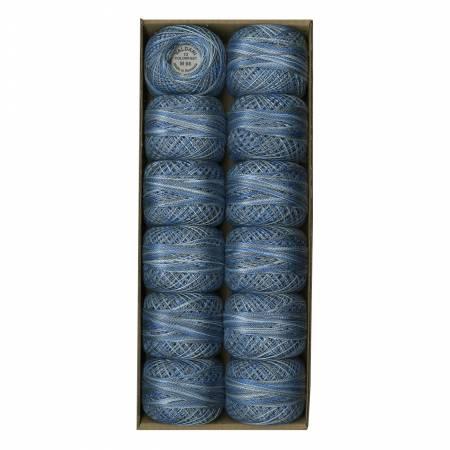 Valdani Variegated Pearl Cotton Ball Sz12 109yd Blue Clouds