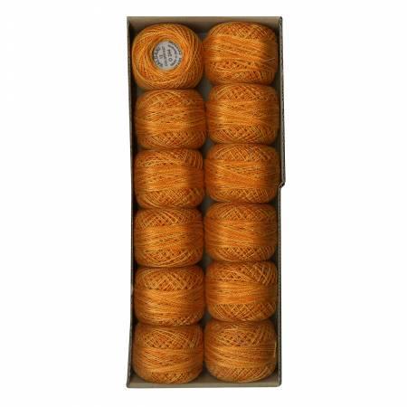 Valdani Variegated Pearl Cotton Ball Sz12 Love of Life - Beautiful Oranges