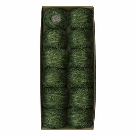 0526 Valdani Variegated Pearl Cotton Ball SZ12 109yd Green Pastures