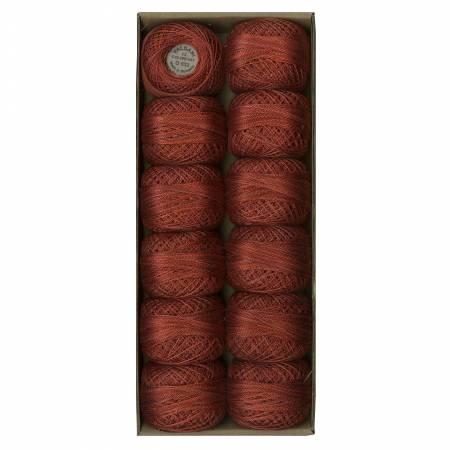 Valdani Variegated Pearl Cotton Ball Sz12 O532109yd Shaded Brick