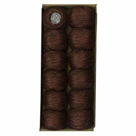 Valdani Variegated Pearl Cotton Ball SZ12 109yd Burnt Chocolate