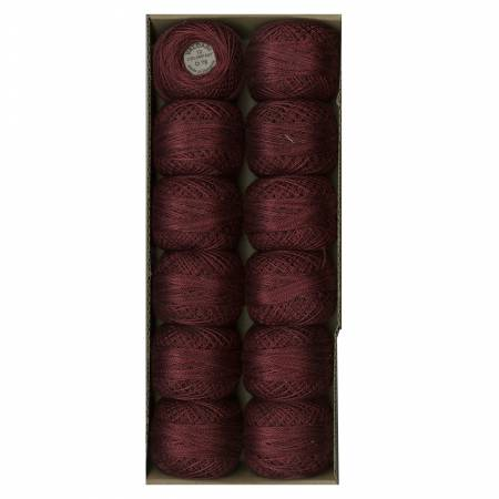 Valdani Variegated Pearl Cotton Ball SZ12 078 109yd Aged Wine