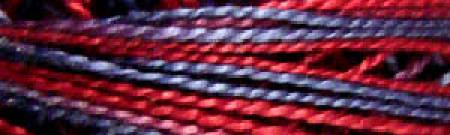 Valdani Variegated Perle Cotton (Size 8) - M77 - Red Navy