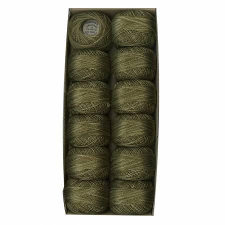 *Valdani Variegated Pearl Cotton 8wt Ball Lichen Moss O1901