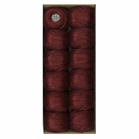 Valdani O503 Variegated Pearl Cotton Sz8 73yd Deep Burgandy
