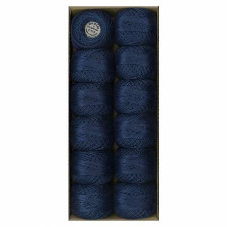 Valdani Variegated Pearl Cotton Ball Sz8 73yd Midnight Blue