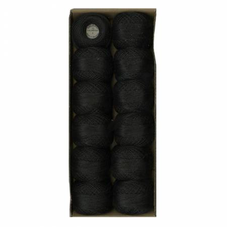 Solid Pearl Cotton Ball SZ12 109yd Black