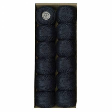 Valdani Solid Pearl Cotton Ball SZ12 873 109yd Dsty Blu Dark