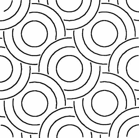 16in modern Circles Block Stencil