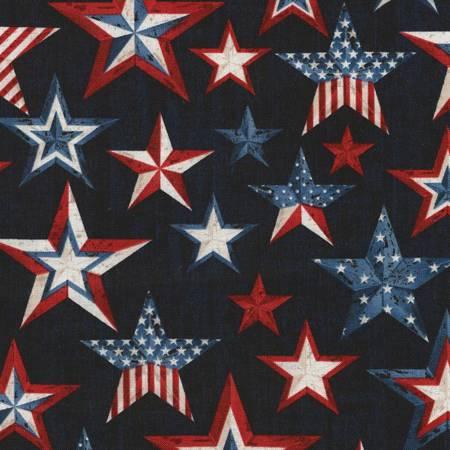 Ink Patriotic Stars Softie Minky Digital