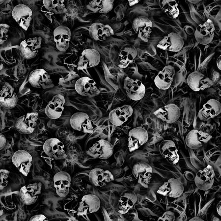 Wicked Tossed Skeletons Softie Minky 60