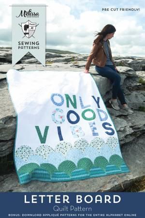 Letter Board Quilt Pattern by Melissa Mortenson