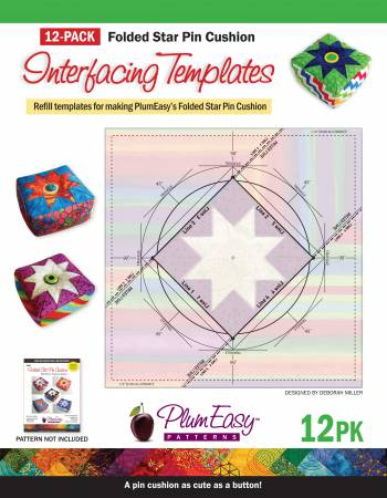 Folded Star Pincushion Template 12-pack