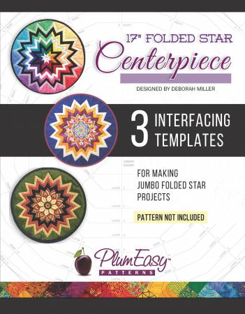 Rounded 17-inch Folded Star Centerpiece Template 3-pack / Plum Easy