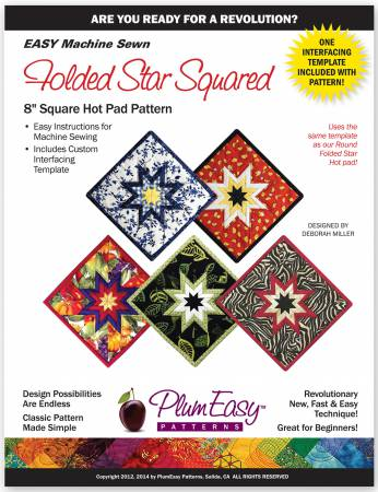 Square Folded Star Hot Pad