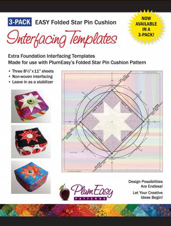 Pin Cushion Interfacing Templates 3-pack