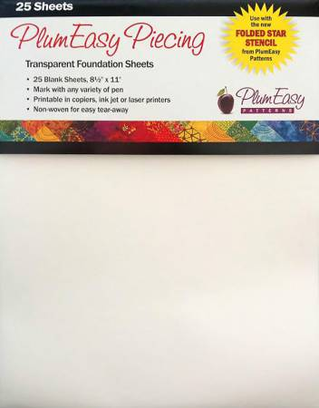 Transparent Foundation Sheets Blank 25 sheets