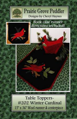 Table Toppers - Winter Cardinal