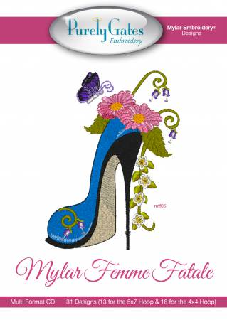 Purely Gates - Mylar Embroidery Designs - CD - Femme Fatale