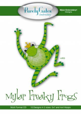 CD Mylar Embroidery Designs Mylar Freaky Frogs Machine Embroidery