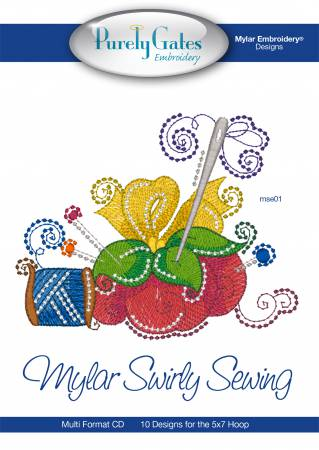 Mylar Swirly Sewing Embroidery CD Designs