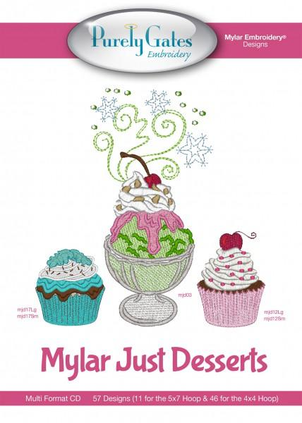 Mylar Just Desserts Machine Embroidery