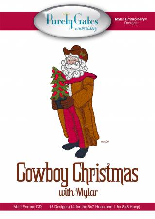 CD Cowboy Christmas with Mylar Machine Embroidery