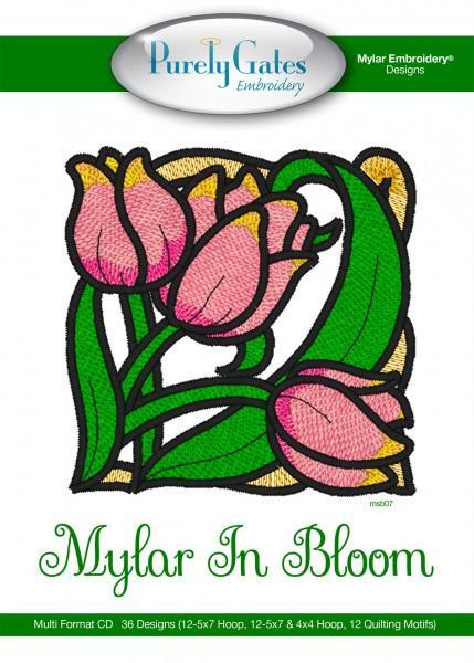 Pattern CD Mylar In Bloom Machine Embroidery