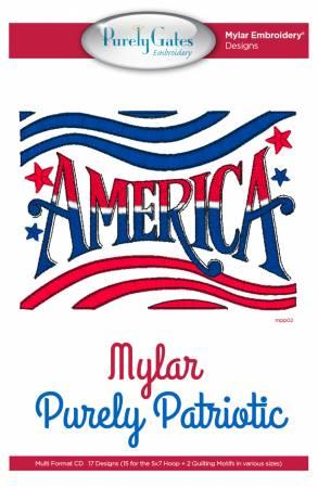Mylar Purely Patriotic Machine Embroidery CD
