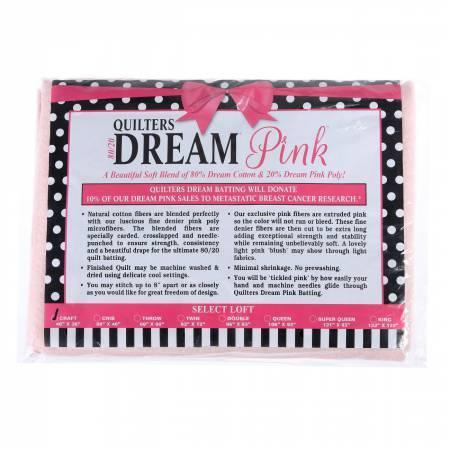 Dream Pink 80/20 Quilt Batting