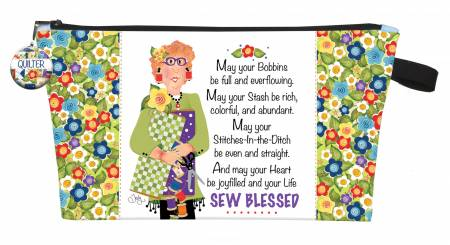 Printed Pouch Quilter's Blessing