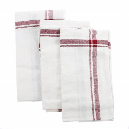Tea Towel - Maroon Vintage Stripe
