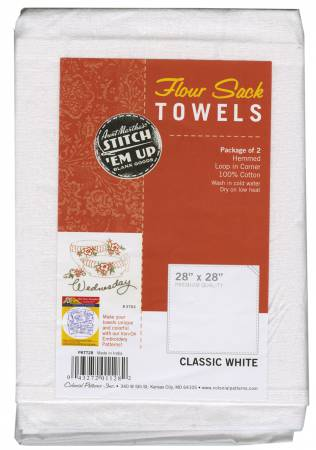 Flour Sack Towels 2/p 28x28 white