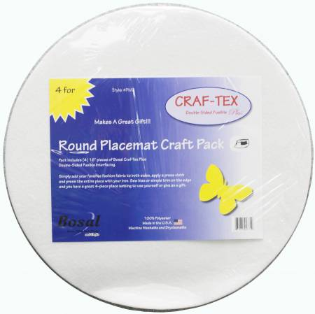 Placemat Craft Pack 16in Round 4pk