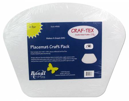 Placemat Craft Pack 14-1/4in x 18-1/2in for Circular Table by Bosal