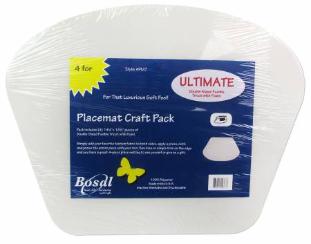 Placemat Foam Craft Pack 14-1/4in x 18-1/2in Circular Table