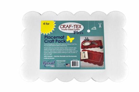 Double Sided Fusible Placemat 12.5 x 18.25 4pk