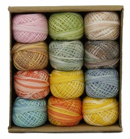 Valdani 3-Strand Ball Floss 30yd Pastel Memories 12 Colors