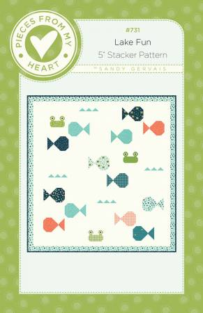 Fish Academy Quilt Pattern designed by Sandy Gervais
