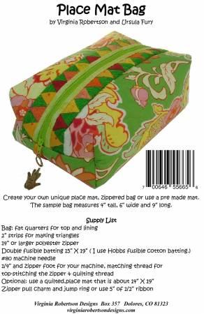 Place  Mat Bag Pattern