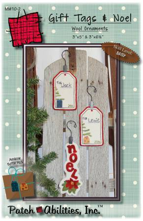 Gift Tags & Poinsettia Noel Wool Ornaments Kit