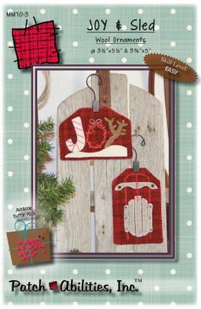 JOY & Sled Wool Ornaments Kit
