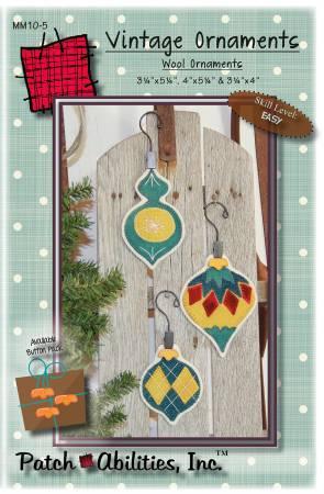 Vintage Ornaments Wool Ornaments Kit