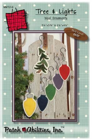 PT- Tree & Lights Wool Ornaments