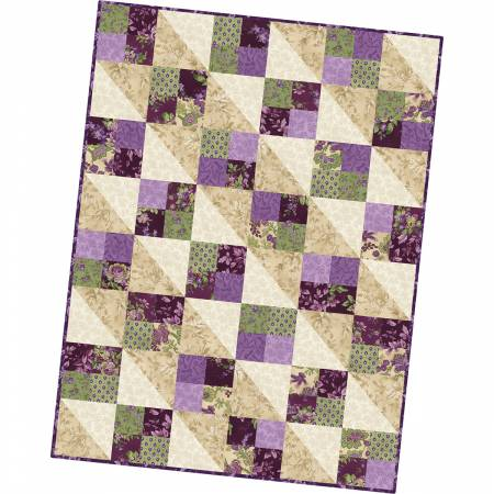 Maywood Aubergine Four Square Quilt Pod 36in x 48in