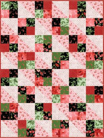 Four Squares Quilt Pod Prose, 36in x 48in.