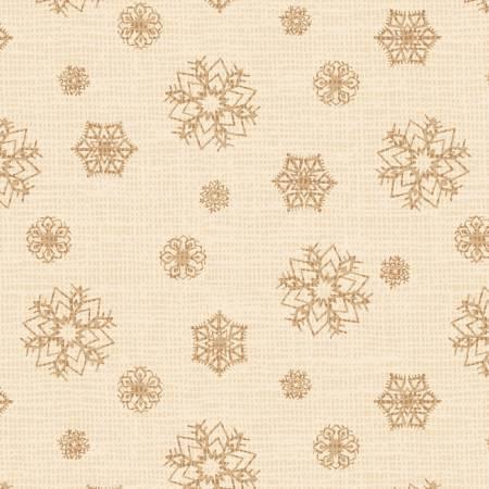 Postcard Holiday Snowflakes Cream 4442-E