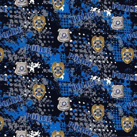 Military Prints - Police Badges - Black - By Sykel Enterprises