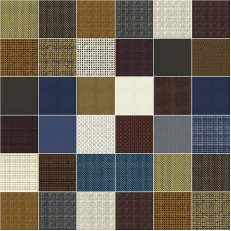 Windham Fabrics- Fat Quarter Pottery, 27pcs/bundle POTTFATQ