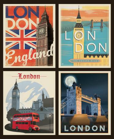 Destinations Pillow Panel London 36in